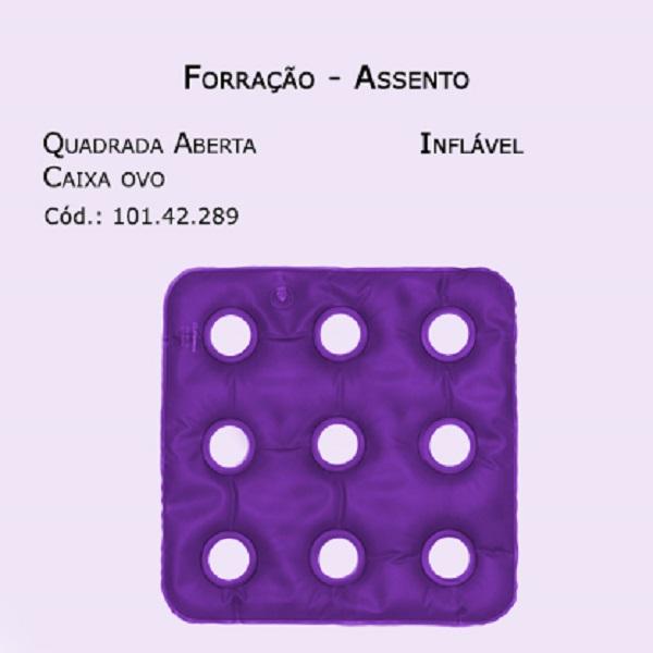 Forrações de Assento - Caixa de Ovo Quadrada Aberta (Inflável Aberto) - Bioflorence - Cód: 101.0289