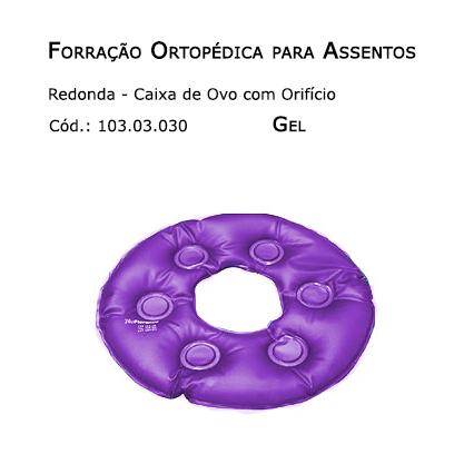 Forrações de Assento - Caixa de Ovo Redonda com Orifício (Gel) - Bioflorence - Cód:103.0030