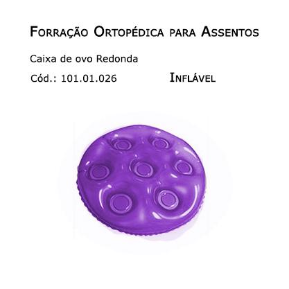 Forrações de Assento - Caixa de Ovo Redonda (Inflável) - Bioflorence - Cód: 101.0026