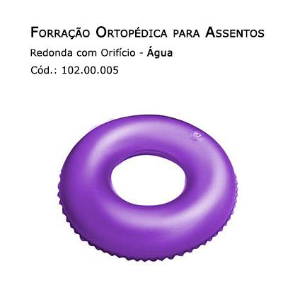 Forrações de Assento - Redonda com Orifício (Água) - Bioflorence - Cód: 102.0005