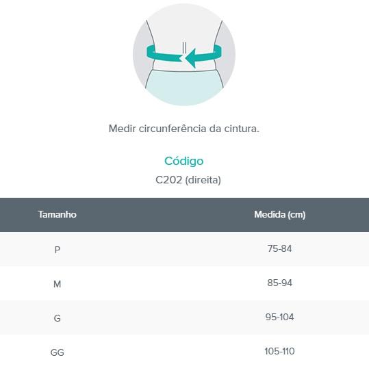 Funda para Hérnia Inguinal - Gold Gancho - Direito - Bege - CHANTAL - Cód: C202