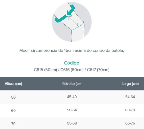 Imobilizador de Joelho Posição Funcional  - Bege (Largo - 70cm) - CHANTAL - Cód: C617L