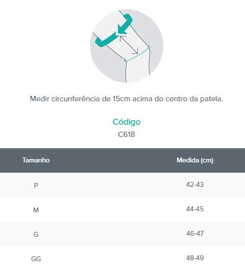 Imobilizador Parcial de Joelho - Bege - CHANTAL - Cód: C618