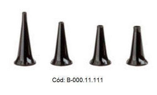 Jogo 4 Espéculos Reusáveis SANALON S 2,4; 3,0; 4,0 e 5,0mm diâmetro - HEINE - Cód: B-000.11.111