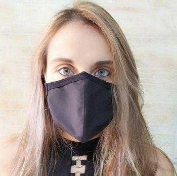 Máscara Protetora de Algodão (PRETA) - Cód: 30037