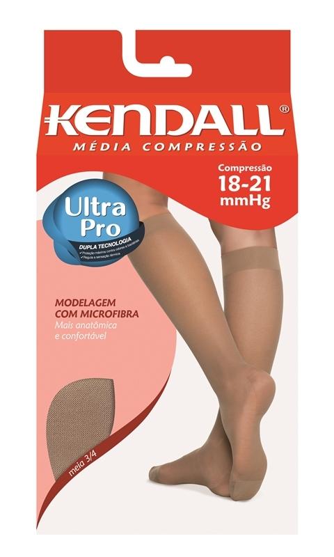 Meia 3/4 Com Ponteira - Preto - (Média Compressão 18-21 mmHg) - KENDALL - Cód: 41169P