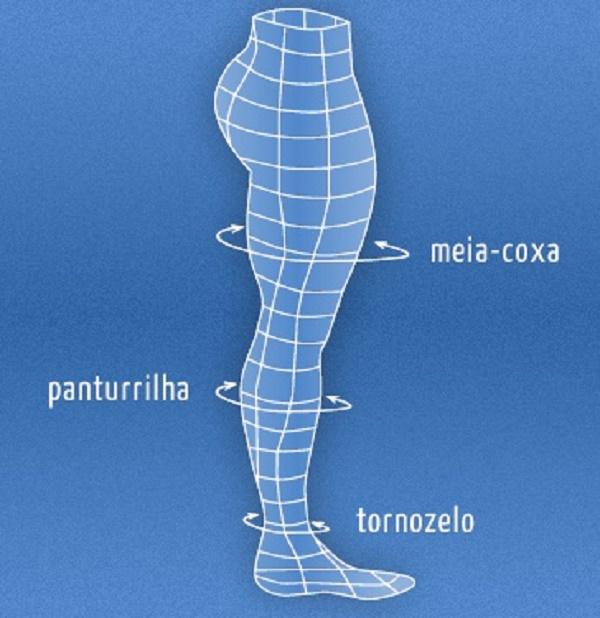 Meia 3/4 Sem Ponteira  - Mel - Alta Compressão 20-30mmHg - KENDALL - Cód: 41188M