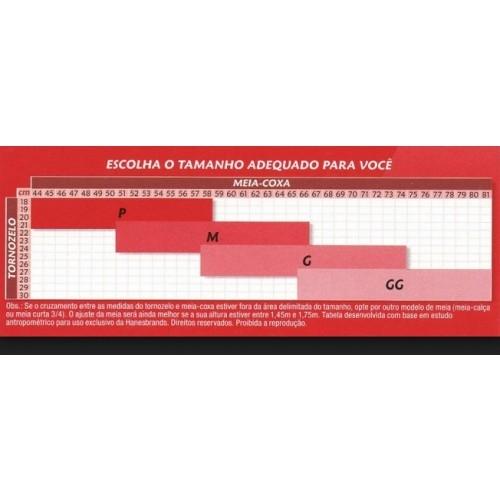 Meia-Calça Gestante Sem Ponteira Com Elástico - Mel - Média Compressão (18-21 mmHg) - KENDALL - Cód: 4113M