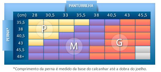 Meia Masculina 3/4 - Branco - Média Compressão (18-21 mmHg)  - KENDALL - Cód: 4118BR