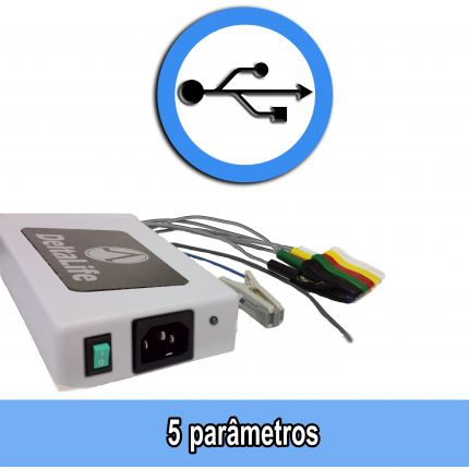 Monitor Multiparamétrico USB VET- DL950 - DELTA LIFE - Cód: DL950