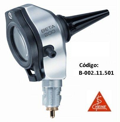 Otoscópio F.O. BETA200 com 4 espéculos reusáveis, sem cabo, 2,5V - HEINE - Cód: B-001.11.501