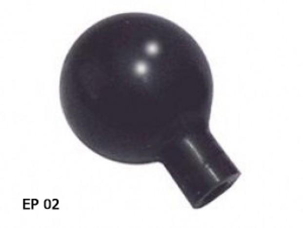 Pera Preta para Eletrodo Pré-Cordial - Pacote com 6 unidades - GLOBAL TEC - Cód: EP02