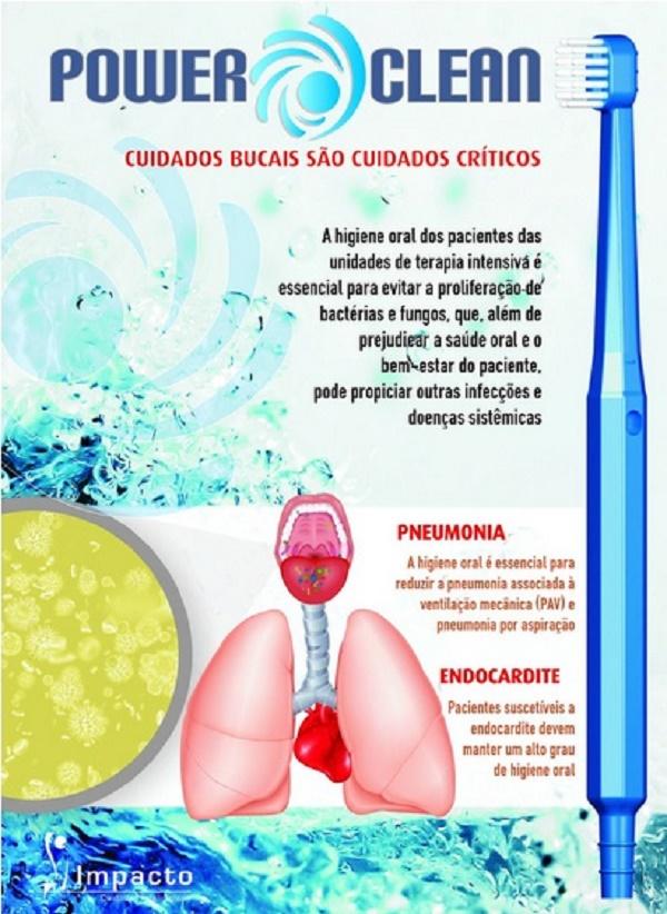 Power Clean SOFT-Dispositivo p/ Remoção Placa Bacteriana, Resíduos e Secreções Orais-Impacto Medical-Cód:IMP48530