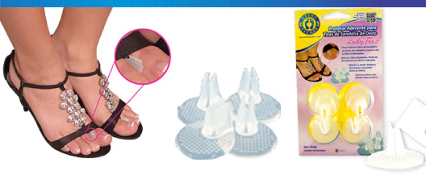 Protetor Aderente para Tiras de Sandália de Dedo Lady Feet - Ortho Pauher - Cód: OP 1029-Y
