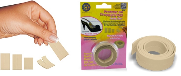 Protetor em Tiras Adesivas Lady Feet (80cm) - Ortho Pauher - Cód: OP 1023X