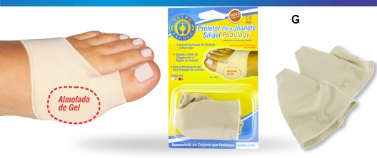 Protetor Para Joanete Siligel Podology (Tam G) - Ortho Pauher - Cód: OP 4055-G