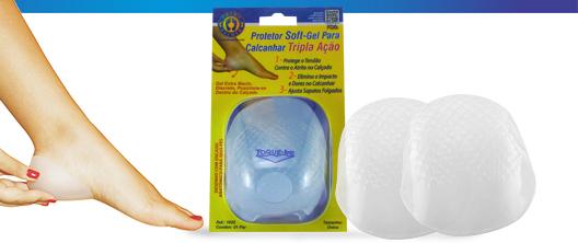 Protetor Soft-Gel para Calcanhar Tripla Ação - Ortho Pauher - Cód: OP 1022