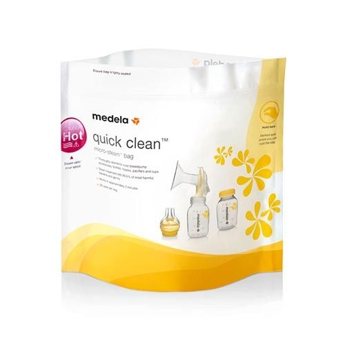 Sacos p/ Microondas - Quick Clean  (500 Unides) - MEDELA - Cód: 008.0041