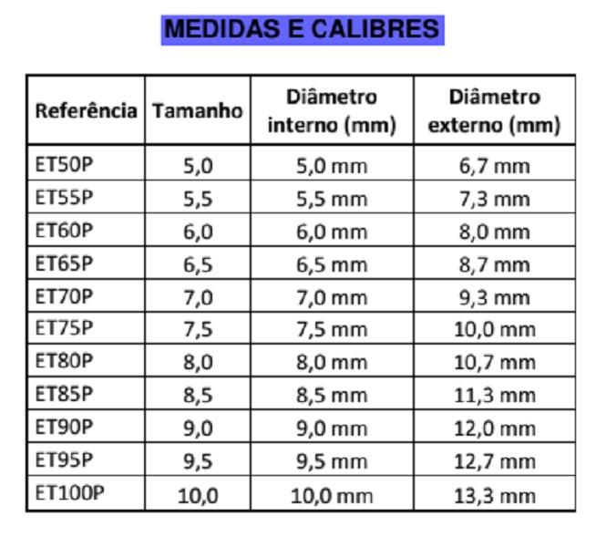 Sonda/Tubo endotraqueal, de PVC, Sem Balão (10 Unidades) - BCI - Cód: ETP