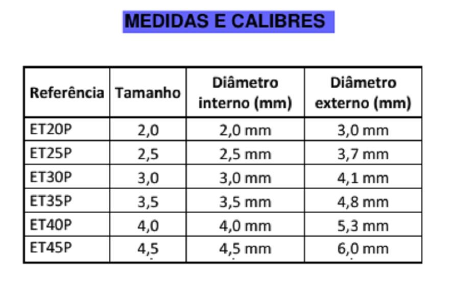 Sonda/Tubo endotraqueal, de PVC, Sem Balão Pediátrica (10 Unidades) - BCI - Cód: ETPP