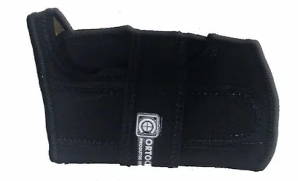 Tala Preventiva para Punho - Preta (Lado Esquerdo) - ORTOCENTER - Cód: OC 0316-E
