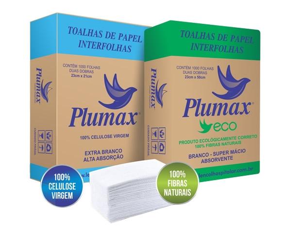 Toalha Interfolha Enxuta 23X21cm (30 Caixas) - PLUMAX - Cód: CAX-008