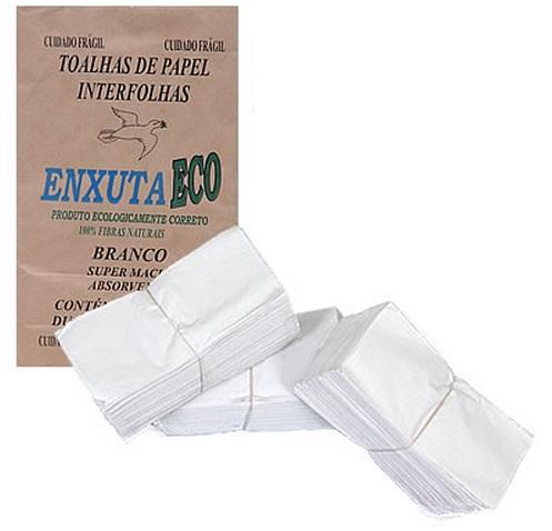 Toalha Interfolha Enxuta ECO 23X21cm C/1000  (35 Caixas) - PLUMAX - Cód: TIE.E2321