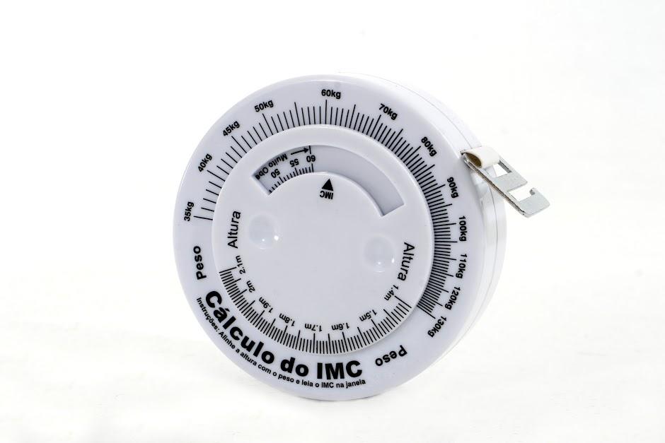 Trena Antropométrica WISO - Circunferência Abdominal e Cálculo do IMC - WISO - Cód: 99032