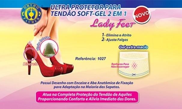 Ultra Protetor para Tendão Soft Gel 2 em 1 Lady Feet - Ortho Pauher - Cód: OP 1027-INC
