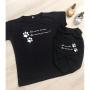 Camiseta Pet - ''Não Nasci Dela, Mas Nasci Para Ela''
