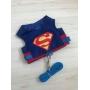 Peitoral Pet Superman Luxo - Tamanho PP