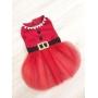 Vestido Pet Mamãe Noel - Coleção Exclusiva - Pronta Entrega