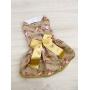 Vestido Pet Natal Dourado - Coleção Exclusiva