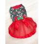Vestido Pet Natal Tule - Coleção Exclusiva - Pronta Entrega
