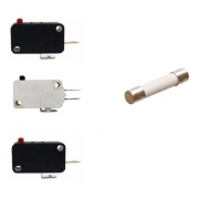 3 Micro Chave + Fusível 20a Microondas Electrolux Consul