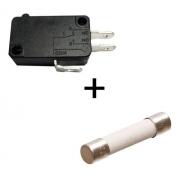 Fusível E Micro Chave Do Microondas Electrolux Mec41 Mef41