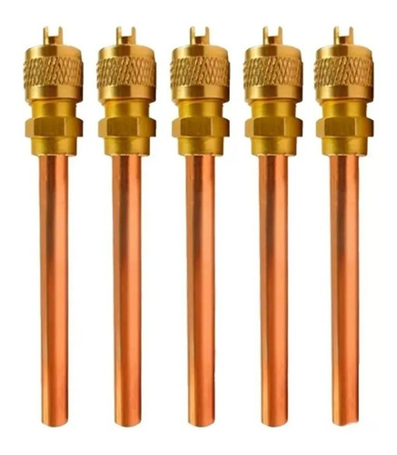 5 Válvula De Serviço Refrigeração Schrader 1/4 C/100mm