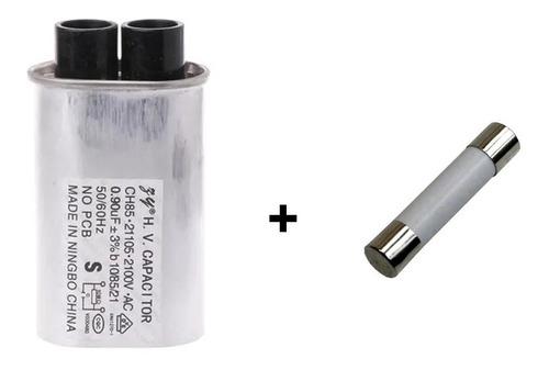 Capacitor Alta Tensão Microondas 0,90uf 2100v + Fusível