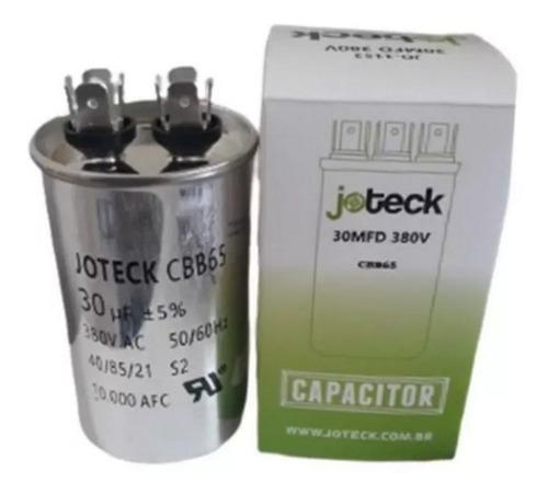 Capacitor Ar Condicionado 30uf + 2,5uf 380v Corpo Aluminio