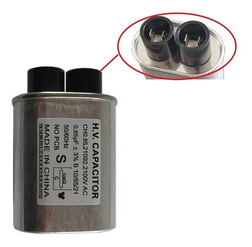 Capacitor De Alta Tensão Forno Microondas 0.85uf 2100v Fusív