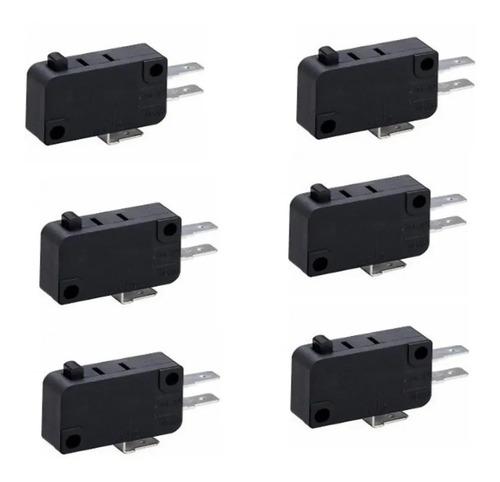 Chave Micro Switch Para Forno Microondas + Fusível 20a