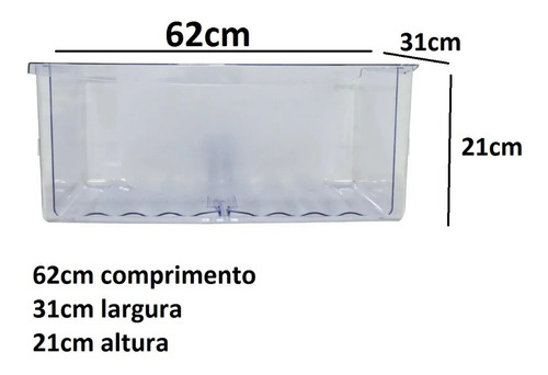 Gaveta De Legumes Continental Copacabana Rdv37-rdn37-rfct370