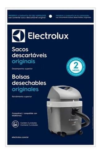 Kit 3 Sacos Descartáveis Aspirador Electrolux Hidrovac Csehv