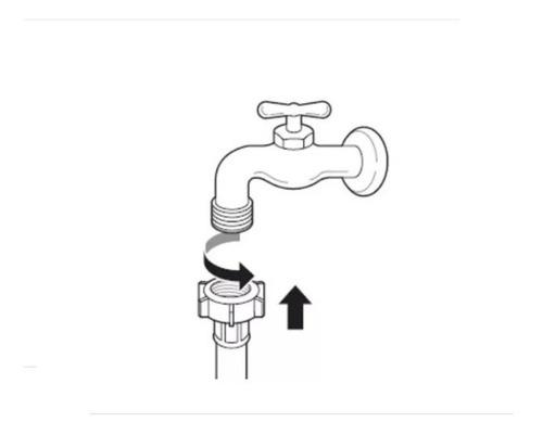 - Mangueira Entrada De Agua C/ Filtro Lavadora Roupas 5 Metros