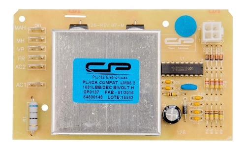 Placa Eletronica Lavadora Electrolux Lm08 64800148 Bivolt