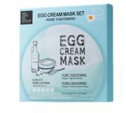 Máscara Egg Cream Mask Pore Tightening Set   - Too Cool for School