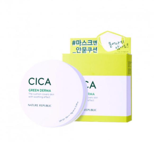 BB Cream Green Derma Mild Cica Serum Cover Cushion SPF50+ PA+++ - Nature Republic