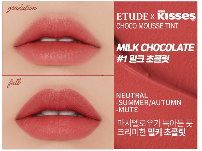 Edição Limitada Hershey Kisses Choco Mousse Tint -Etude House