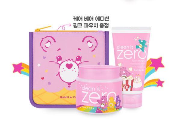 Kit Clean IT Zero Cleansers & Pouch Gift Set Ursinhos Carinhosos - Banila Co.