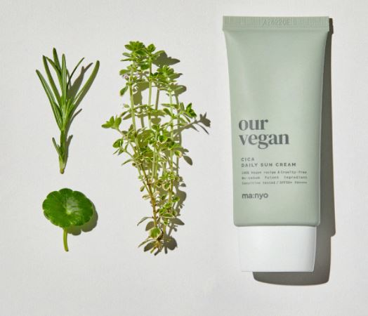 Protetor  Our Vegan Cica Daily Sun Cream SPF50+ PA++++ - Manyo Factrory